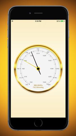 苹果手机应用 苹果软件 天气 气压表
