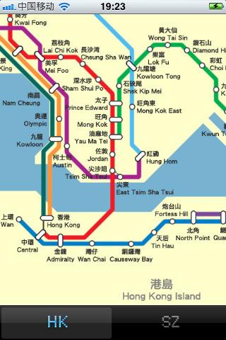 香港深圳地铁线路图