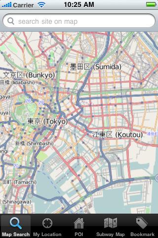 东京卫星定位地图