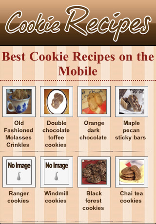 苹果手机应用 苹果软件 教育 饼干食谱  应用截图 综合评分 0分