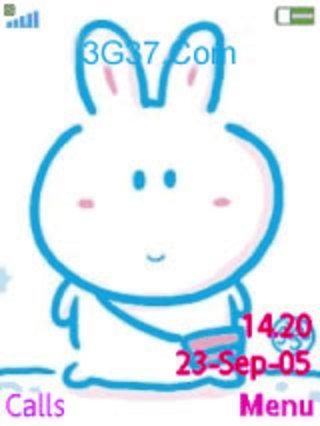 可爱大胖兔主题
