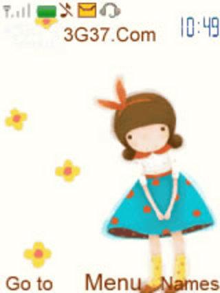 【可爱的小女孩卡通版主题7370系列下载|可爱的小
