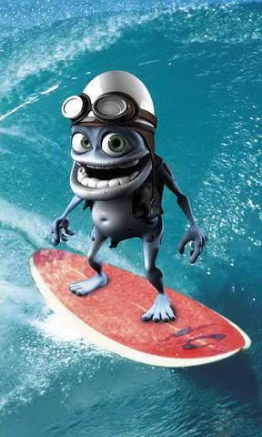 青蛙冲浪手机壁纸