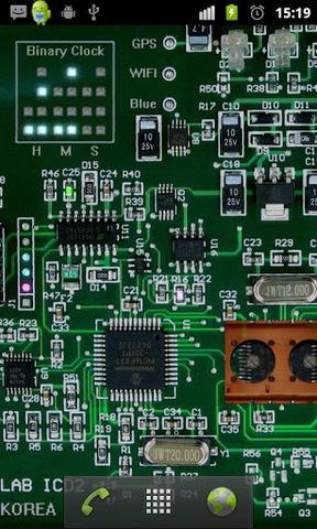 acircuit board是很酷的一款动态壁纸,貌似让你看到手机的电路板