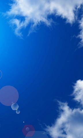 晴空万里白云手机壁纸