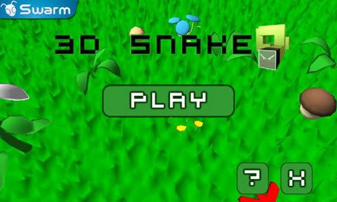 3d贪吃蛇,你需要动用你的空间感和跟着方向旋转的虚拟按键来控制,收集