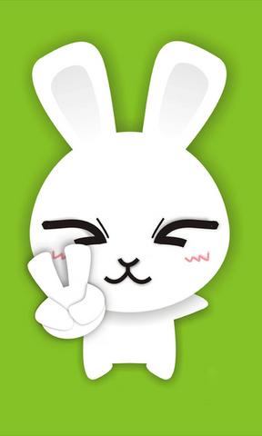 【卡通小白兔丰富的表情壁纸】卡通小白兔丰富的表情