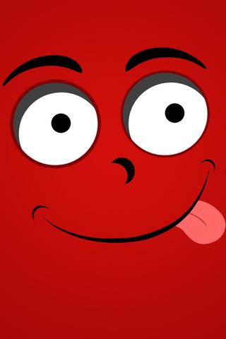 红色笑脸手机壁纸