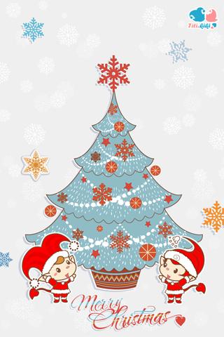【萌版圣诞节手机壁纸】萌版圣诞节手机壁纸免费下载