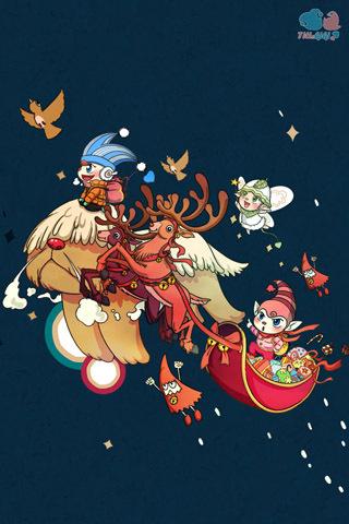【圣诞节插画手机壁纸】圣诞节插画手机壁纸免费下载