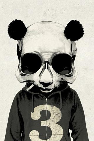 潮流个性熊猫手机壁纸