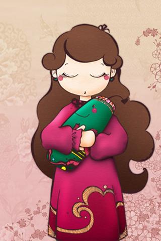 可爱女孩韩国卡通壁纸上一张下一张