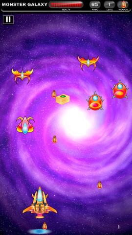 苹果游戏 街机游戏 银河怪兽  银河怪兽是一款儿童类打飞机游戏,玩家