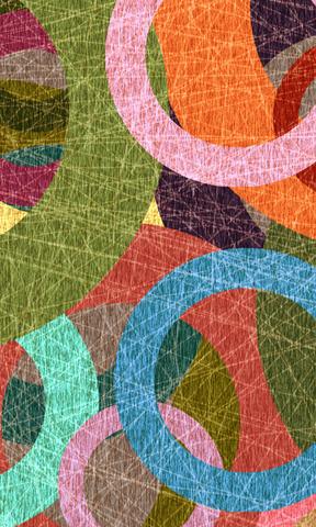 多彩圈圈手机壁纸