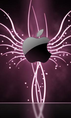 发光的苹果手机壁纸