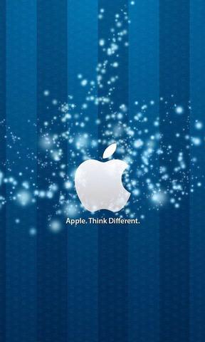 蓝底苹果手机壁纸