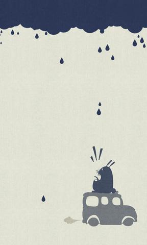 下雨咯手绘壁纸