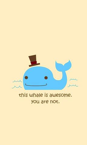 【手绘小鲸鱼手机壁纸】手绘小鲸鱼手机壁纸免费下载
