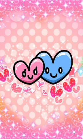 【可爱的爱心手机壁纸】可爱的爱心手机壁纸免费下载