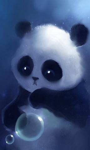 萌萌小熊猫手机壁纸