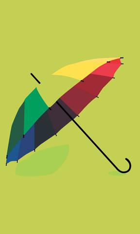 彩色雨伞手机壁纸