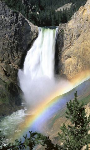 唯美自然安卓手机壁纸 唯美天空风景手机壁纸  彩虹瀑布手机壁纸 简介