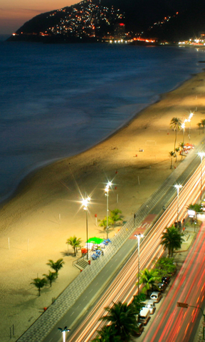 海滩夜景手机壁纸