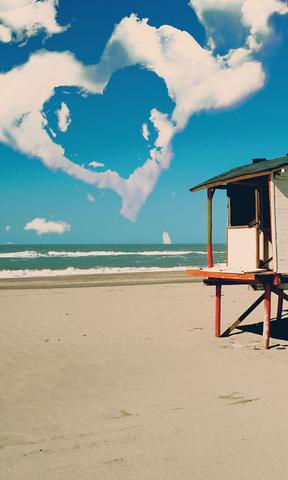 海边小屋手机壁纸
