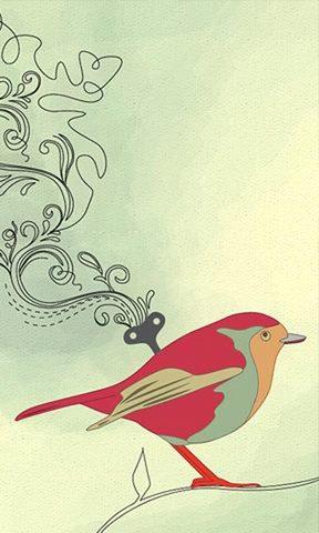 手绘鸟手机壁纸