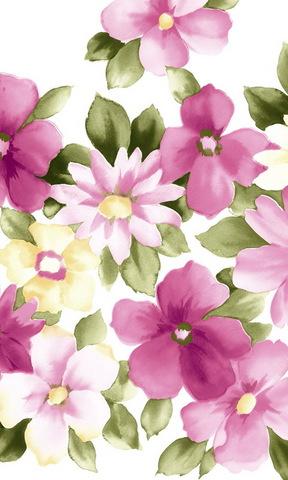 手绘花朵手机壁纸