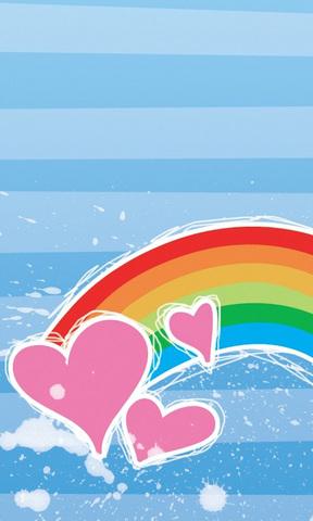 【爱心彩虹手机壁纸】爱心彩虹手机壁纸免费下载