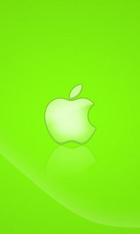 【绿色苹果logo手机壁纸】绿色苹果logo手机壁纸免费