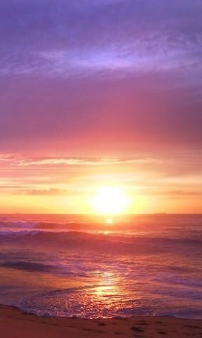 【夕阳海滩手机壁纸】夕阳海滩手机壁纸免费下载
