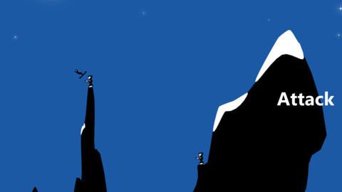 弧线滑雪是一款游动作技巧类游戏,游戏画面看起来非常有火柴人风范