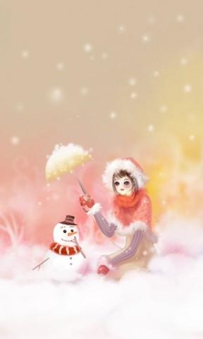 下雪背景男生头像