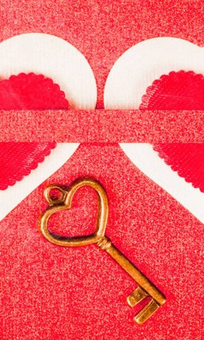 爱心之钥手机壁纸