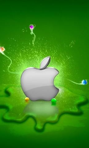 【绿色苹果手机壁纸】绿色苹果手机壁纸免费下载_手机