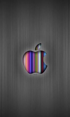 【苹果彩色条纹手机壁纸】苹果彩色条纹手机壁纸免