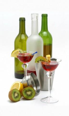 方形酒瓶子素描结构图