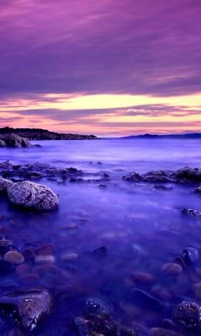【紫色湖泊手机壁纸】紫色湖泊手机壁纸免费下载