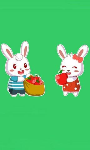可爱开心兔图片