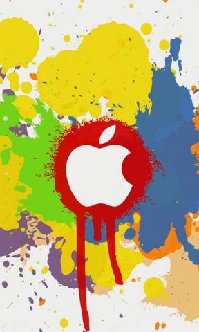 【涂鸦风格苹果logo手机壁纸】涂鸦风格苹果logo手机
