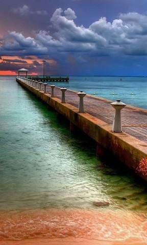 【海滩日落手机壁纸】海滩日落手机壁纸免费下载