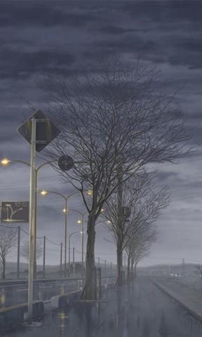 秋的颜色壁纸 城市街道风景手机壁纸