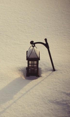 纯色雪景边框高清大图