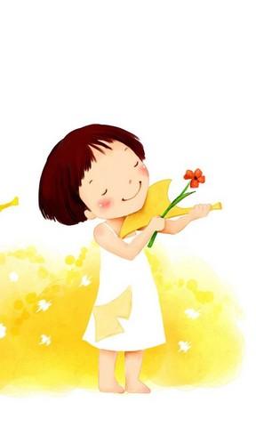 可爱小女孩卡通壁纸上一张下一张
