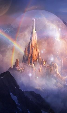 【彩虹中的美丽景观手机壁纸】彩虹中的美丽景观手机