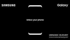 【三星S8】三星S8将于3月29日在纽约发布,该机或将搭载骁龙835处理器,后置双镜头,具备双曲面屏幕,高屏占比,并采用全金属机身设计