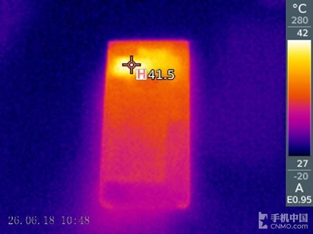 黑莓KEY2(64GB)发热测试