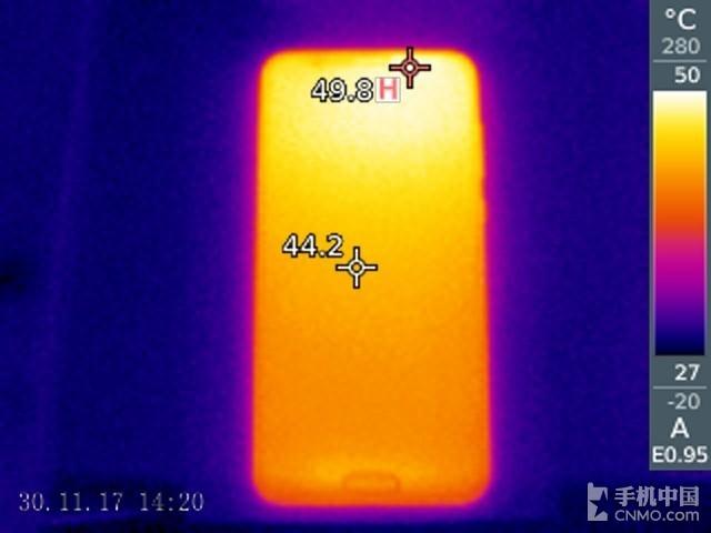 荣耀V10(6+64GB)发热测试